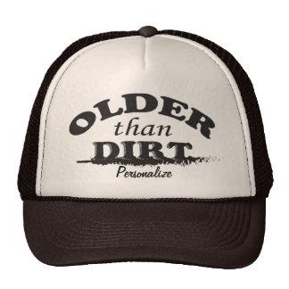 Older than Dirt Birthday Cap