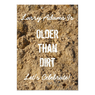 Older Than Dirt Birthday Party Invitation