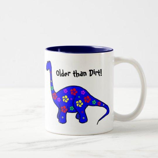 Older than Dirt! Colourful Dinosaur Mug