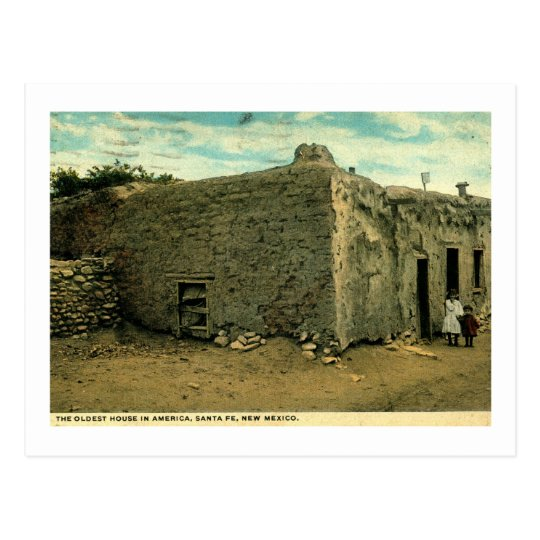 Oldest House in America, Santa Fe New Mexico Postcard