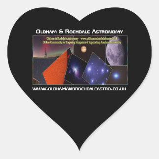 Oldham & Rochdale Astro Heart Stickers