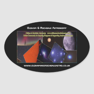Oldham & Rochdale Astro Oval Stickers