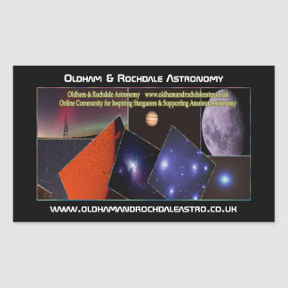 Oldham & Rochdale Astro Rectangle Stickers