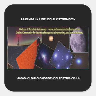 Oldham & Rochdale Astro Square Stickers