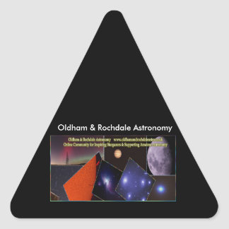 Oldham & Rochdale Astro Triangle Stickers