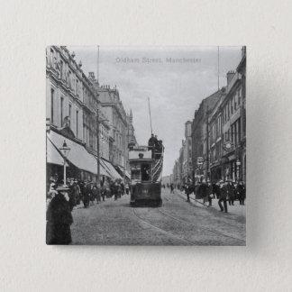 Oldham Street, Manchester, c.1910 15 Cm Square Badge