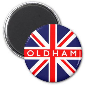 Oldham UK Flag 6 Cm Round Magnet