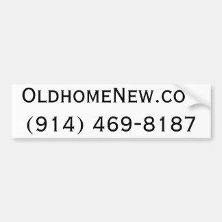 OldhomeNew.com Bumper Sticker
