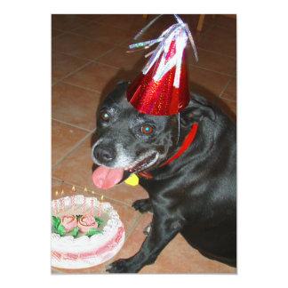 Oldie But Goodie Birthday Dog 5x7 Paper Invitation Card