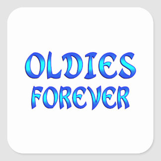 Oldies Forever Square Sticker