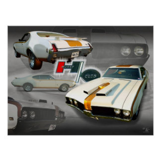 Olds 455 in Grey Poster