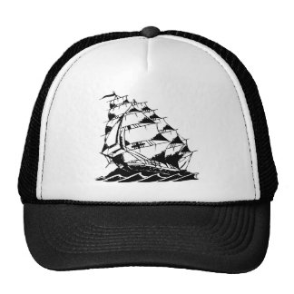 Olds Skool Tattoo Sailing Ship Navy Hats