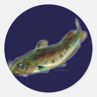 Oldschool style saltwater design round sticker