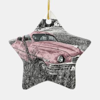 Oldtimer Car Old Vintage Headlight Engine Hood Christmas Ornament