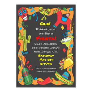 """Ole! Mexican Fiesta Party Invitation 5"""" X 7"""" Invitation Card"""