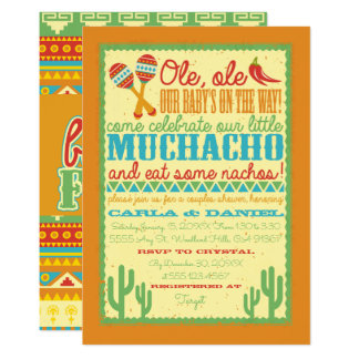 Ole, Ole, Fiesta Baby Shower Invitation