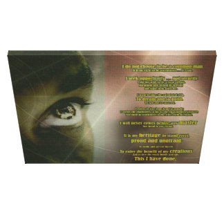 Ole to the African American Entrepreneur Canvas Print