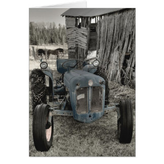 ole tractor greeting card