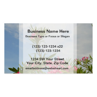 oleander bush flower floral florida pack of standard business cards