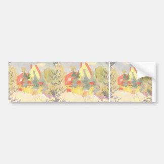 Oleksandr Bogomazov- Landscape with the house Bumper Stickers