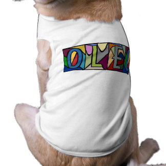 OLEO ~ PERSONALIZED BGLETTERS ~ PET-WARE FOR DOGS! SLEEVELESS DOG SHIRT
