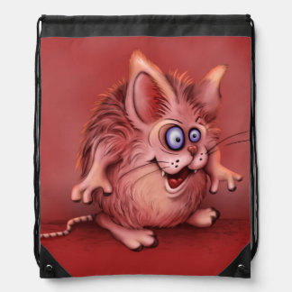 OLIO CUTE ALIEN MONSTER CARTOON DrawstringBackpack Drawstring Bag