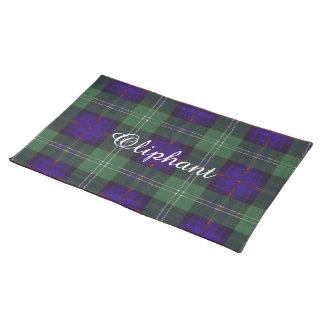 Oliphant clan Plaid Scottish kilt tartan Cloth Place Mat