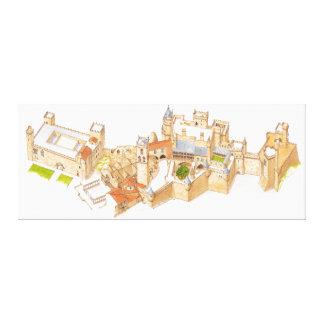 Olite Castle. Navarra Spain Canvas Print