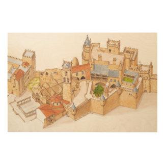 Olite Castle. Navarra Spain Wood Wall Art