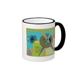 Olive 60s ringer mug