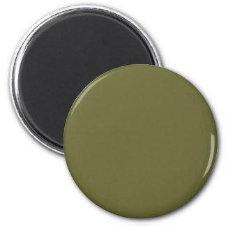 Olive #666633 Solid Color 6 Cm Round Magnet