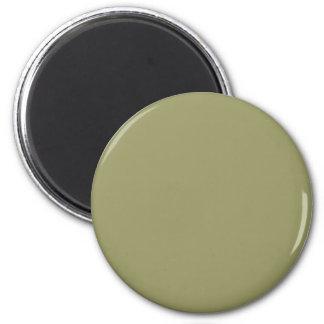 Olive #999966 Solid Color 6 Cm Round Magnet