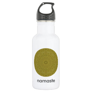 Olive and Gold Mandala Art Namaste 532 Ml Water Bottle