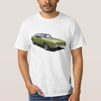 Olive AvanTee Classic American Car T-Shirt