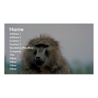 Olive Baboon Business Cards