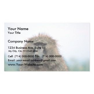 Olive Baboon Business Card Templates
