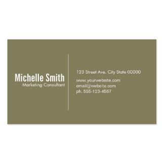 Olive background with Divider Line Pack Of Standard Business Cards