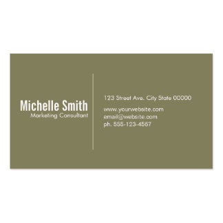 Olive background with Divider Line Pack Of Standard Business Cards
