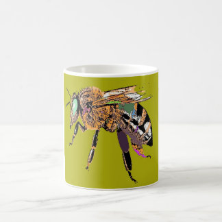 Olive Bee Pop Art Mug