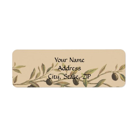 Olive Branch: A Tuscan Touch Return Address Label