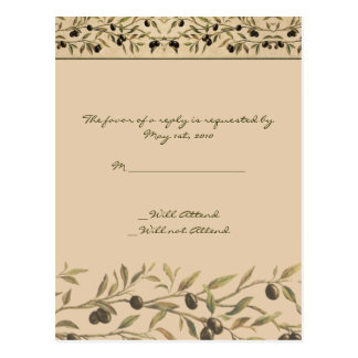 Olive Branch: A Tuscan Touch RSVP Postcard
