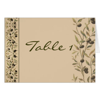 Olive Branch: A Tuscan Touch Table Number Greeting Card