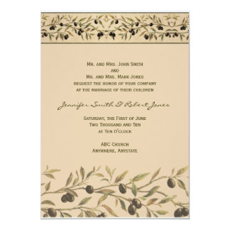 Olive Branch: A Tuscan Touch Wedding Invitation