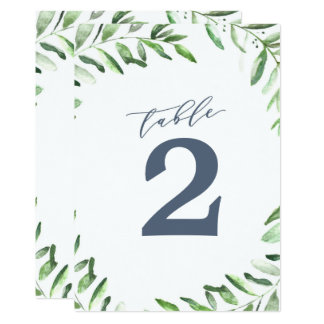 Olive Branch Boho Garden Table Number 13 Cm X 18 Cm Invitation Card