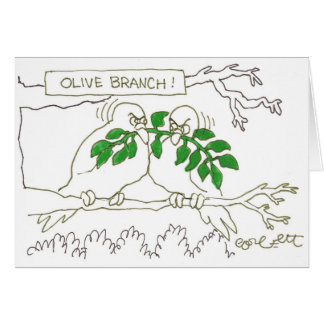 Olive branch! card
