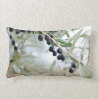 Olive branch lumbar cushion