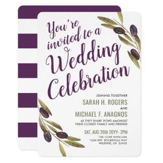 Olive Branch Sangria   White Wedding Invite
