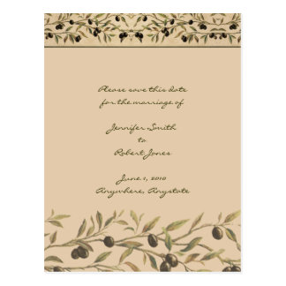 Olive Branch Tuscan Save the Date Postcard