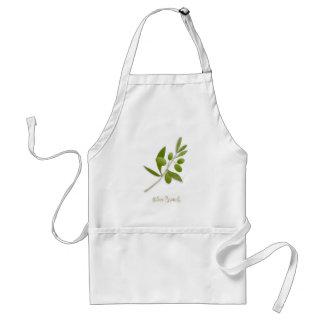 Olive Branch White Apron