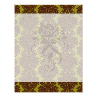 olive brown formal damask full color flyer